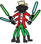Slade Spider (stogie) (four sabers) (two blue and two green)