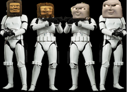 Splatter, Dodge, Max, and Monty as The Stormtroopers.