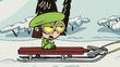 Lisa on sled