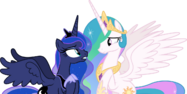 Luna and celestia emotionally talking vector by chrzanek97 dderm7u-pre
