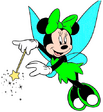 Minnie Mouse dressed as Tinkerbell