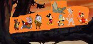 Timothy Q. Mouse, Big Bad Wolf, Jiminy Cricket, Mickey Mouse, Humpty Dumpty, White Rabbit, Jack Bear, and Dumbo (1)