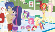 Equestria Girls at the pool