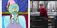 Squidward vs Psycho Dad