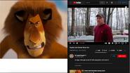 Alex the Lion vs Psycho Dad
