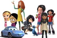 Penny Peterson, Ronnie Anne, Audrey, Gogo Tomago, Addie McAllister, Amy Gonzales, Yi, Sally and Jewel