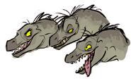 Shenzi, Banzai and Edd as Raptors