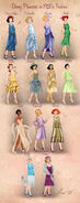 Disney Princesses 1920s Fashion