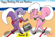 Happy Birthday to You, Fifi and Matthew!