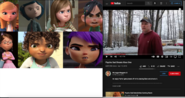 Penny, Coraline, Riley, Vanellope, Margo, Tip and Mai Vs Psycho Dad