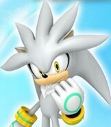Silver the Hedgehog in Sonic Free Riders