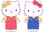 Hello kitty and mimmy smiling eyes open by malekmasoud dcy9cn0