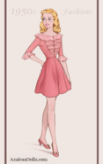 Lisa Dressed Up as 1950s Clothes