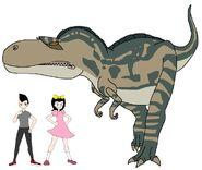 Riley and Elycia meets Albertosaurus
