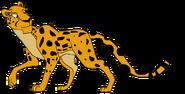Sam Spacebot cheetah form thelionking in thespacebotsadventuresseries