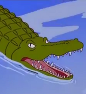 The Simpsons crocodile