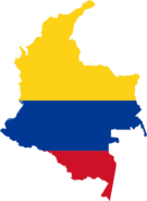 Colombia Flag Map