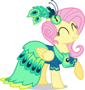 Fluttershy in her second Gala outfit