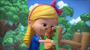 Goldie kisses Jack Bear