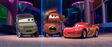 Mater with Miles Axlerod and Lightning McQueen