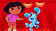 The Dora and Blue Show - Dora and Blue's stage (from the ending song) 2