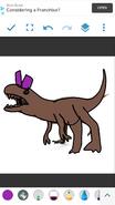 Boris as Cryolophosaurus