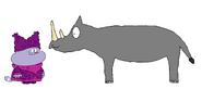 Chowder meets Black Rhinoceros