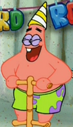 Patrick Wearing a Party Hat
