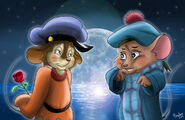 Fievel and olivia remake by the b meister-d7qq10i