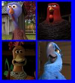 Reggie, Jake, Rocky and Blu
