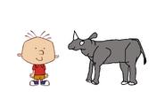 Stanley Griff meets Indian Rhinoceros