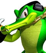 Vector the Crocodile in Sonic Heroes