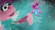 Abby Caddabby dances in the 2009 closing credits sequence