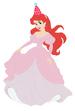 Ariel wearing a party hat