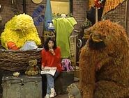 Big Bird and Snuffy fall asleep through The Three Bears story