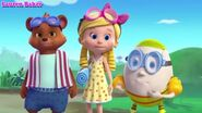 Humpty Dumpty, Goldie Locks, and Jack Bear