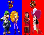 Luigi and Adagio Dazzle vs Lord Farquaad and Captain Hook