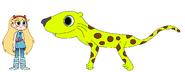 Star meets African Leopard