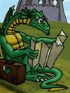 Dragon in hugo lek och lar 3 den magiska berg och dalbanan