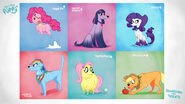 The Mane 6 as Dogs