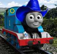 Thomas with cowboy hat 2