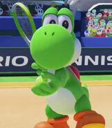 Yoshi in Mario Tennis- Ultra Smash