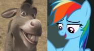 Donkey and Rainbow Dash