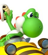 Yoshi in Mario Kart 7