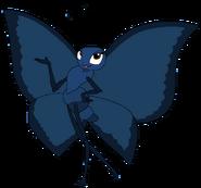 Amy as a blue morpho