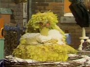 Big Bird is fast asleep in the beginning of episode 593