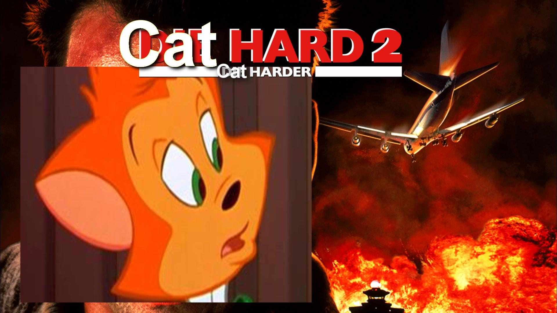 Cat Hard 2 Cat Harder (CoolZDane Animal Style) Poster.jpeg