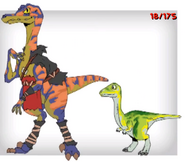 Raptor and small green dinosaur ty-the-tasmanian-tiger