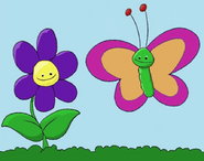 Reader rabbit toddler green butterfly with pink wings