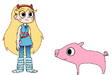 Star meets Domestic Pig
